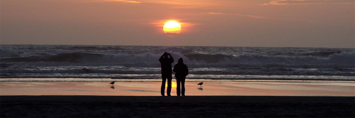 couple at sunset on beach