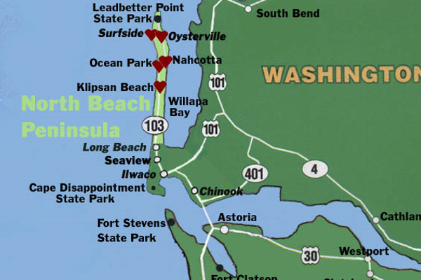 North Beach Peninsula Map