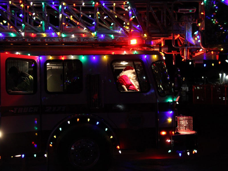 decorated fire engine