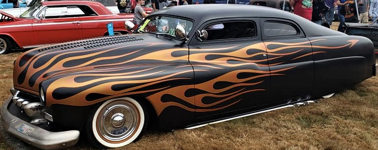 beach barons car club flames