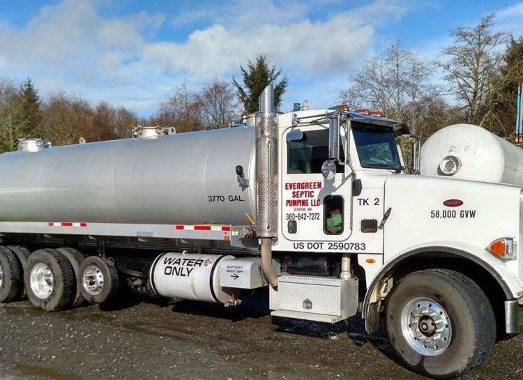 evergreen septic truck