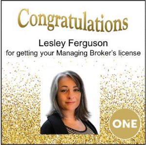 lesley ferguson realtor broker license