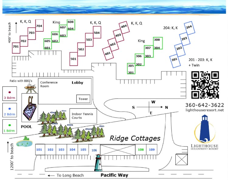 lighthouse oceanfront resort map