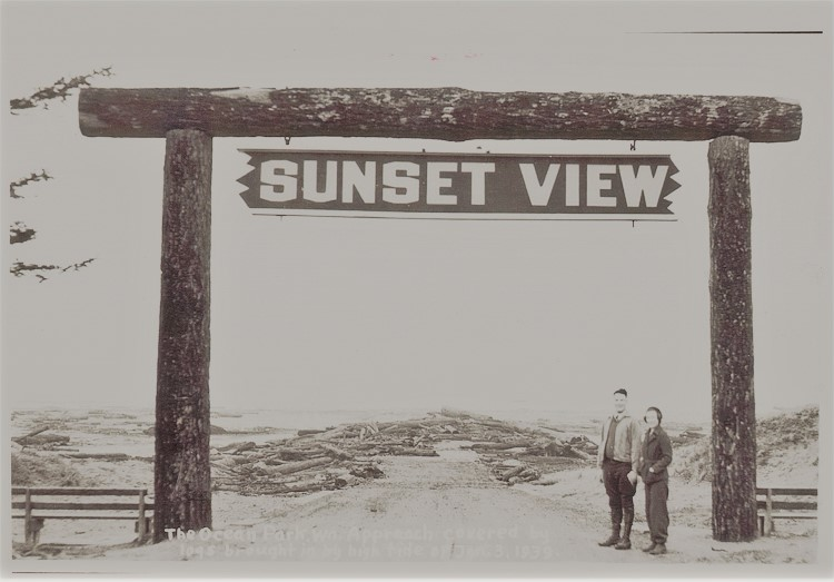 vintage sunset view