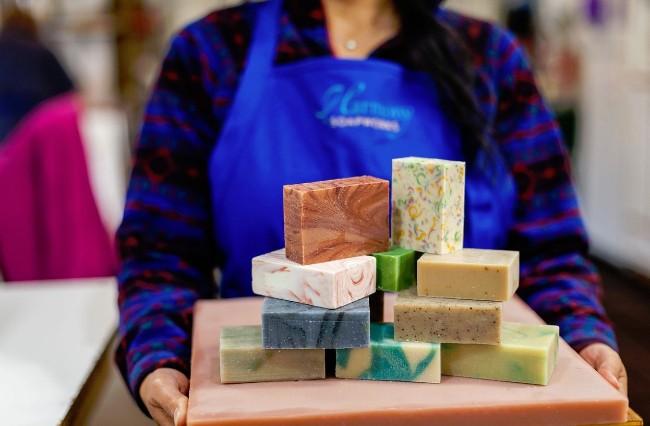 harmony soapworks tray soap