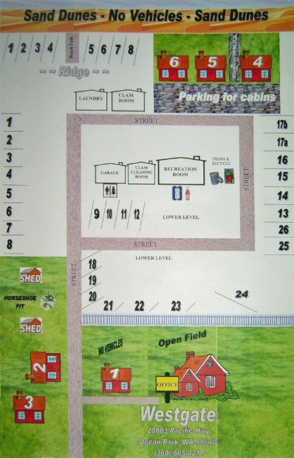westgate cabins rv park map