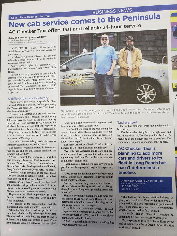 Checker taxi article