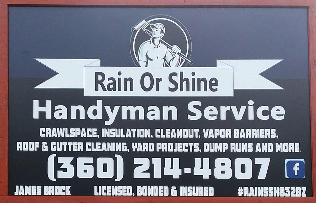 rain or shine handyman service
